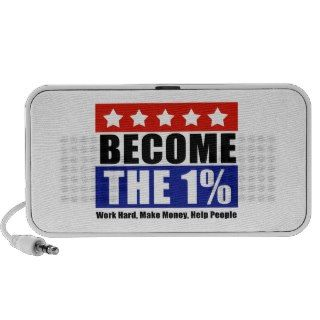 Become the One Percent, Anti Occupy Wall Street Laptop Speaker