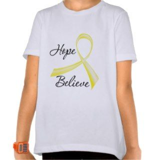 Hope Believe Brush Ribbon Bladder Cancer Tshirt
