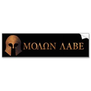 Molon Labe (Come and Get It) Bumper Sticker