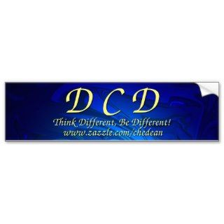DCD, Think Different, Be Different Bumper Stickers