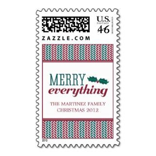 Herringbone Merry Everything Christmas Postage