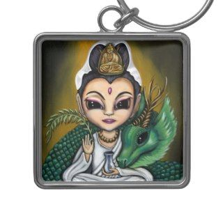 Quan Yin and Her Dragon art KEYCHAIN
