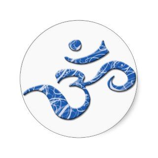 Ohm Symbol Sticker in Blue