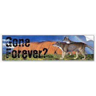 Gone Forever? Tasmanian Tiger Bumper Sticker