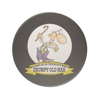 WORLDS GREATEST GRUMPY OLD MAN CARTOON BEVERAGE COASTER