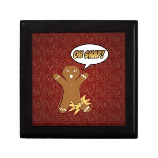 Oh Snap! Funny Gingerbread Man Jewelry Boxes