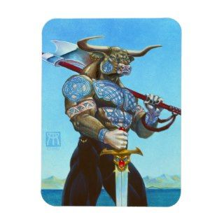 Daedalus Minotaur of Crete Rectangle Magnet