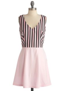 Cotton Candy Striper Dress  Mod Retro Vintage Dresses