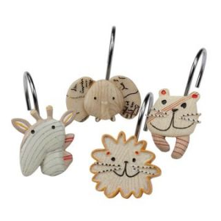 Animal Crackers Shower Hooks   Shower Curtain Hooks & Rods at