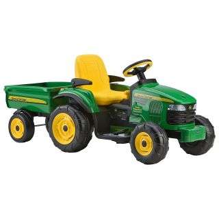 Peg Perego John Deere Battery Powered Turf Tractor with Trailer