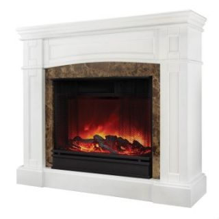 Real Flame Bentley Electric Fireplace   White   Electric Fireplaces at