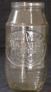 Vintage Anchor Hocking Maxwell House Coffee Glass Jar