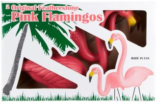 Don Featherstone Original Two Pair of Pink Flamingos Made in USA Union Lawn Yard
