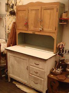 Antique Hoosier Cabinet Cupboard Keystone