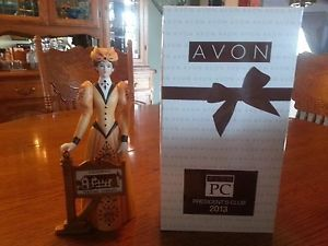 Avon Mrs Albee 2013 President's Club Figurine New in Box Calif Perfume Comp