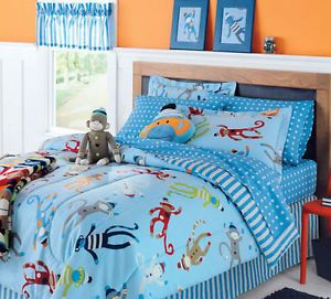 Monkey Twin Bed Set