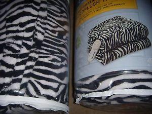 New Sexy Black and White Zebra Electric Heated Throw Blanket