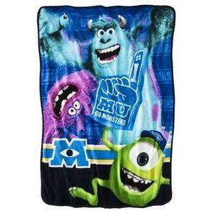 New Disney Monsters University Plush Fleece Throw Blanket