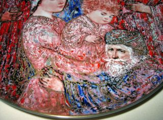 Edna Hibel Annual Christmas Beautiful The Gifts of The Magi Plate Orig BX COA