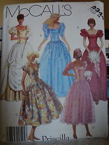 McCalls 2344 Womens Cinderella Costume Pattern Glinda The Good Witch Vtg 80s 14