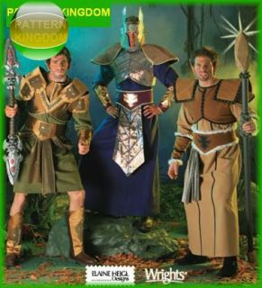 Mens Fantasy Medieval Warrior Costume Patterns XS M