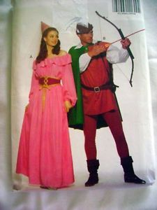 Adult Robin Hood Maid Marion Costume Sewing Pattern