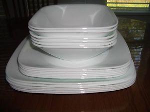 Wonderful Corelle Square Pure White 18 Pc Dinnerware Set ...