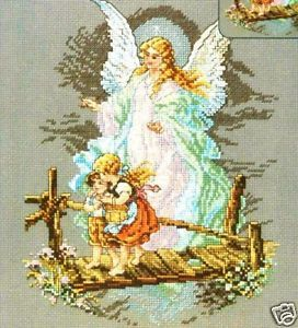 Janlynn Counted Cross Stitch Kit Guardian Angel