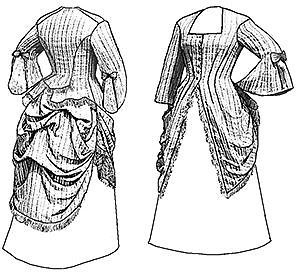 Old West 1870 Polonaise Long Blouse Top Sewing Pattern Truly Victorian TV410