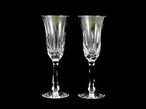 Waterford Crystal Glass Ballyshannon Champagne Flutes Glasses Old Mark