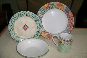 Corelle IMPRESSIONS16 Piece Dinnerware Set Service for 4 Watercolors