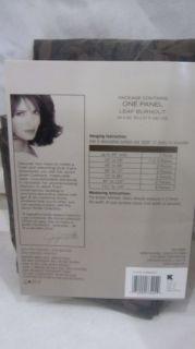 "Jaclyn Smith Today Espresso Sheer Leaf Burnout Window Panel 54 x 63"""