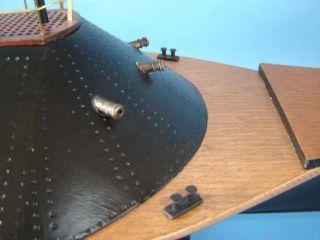 "CSS Virginia Limited 34"" Civil War Model Ships Wooden Model Boat Already Built"