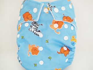 New Kawaii Baby Cloth Diaper One Size OS Goodnight Heavy Wetter 2 Large Liners