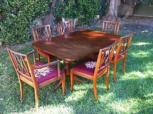 Antique Paine Furniture Company Dining Room Table and Chairs
