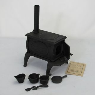 Old Mountain Cast Iron Mini Box Stove Set 10 inches High x 8 inches Wide