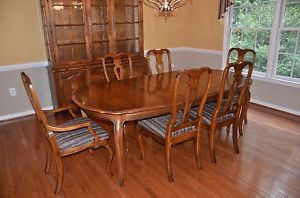... Ethan Allen Country French Dining Room Table And Chairs Fruitwood ...