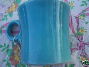 Vintage Genuine Fiestaware Turquoise Tom Jerry Mug Pottery Fiesta Ware Dinner