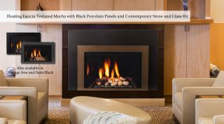 Majestic Rear Direct Vent Fireplace With Dvctk36 Cast Iron Trim Kit