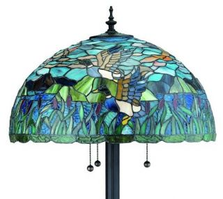 "Neka Tiffany Style Stained Glass Floor Lamp Light 63"" H"