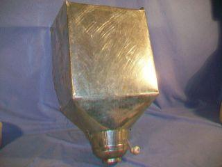 Antique Hoosier Cabinet Metal Flour Bin with Working Sifter Kitchen Tool Vintage