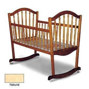 Angel Line Continental Solid Wood Rocking Cradle Baby Children Nursery Furniture