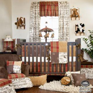 Glenna Jean Baby Boy Rustic Western Cowboy Theme Crib Nursery Quilt Bedding Set