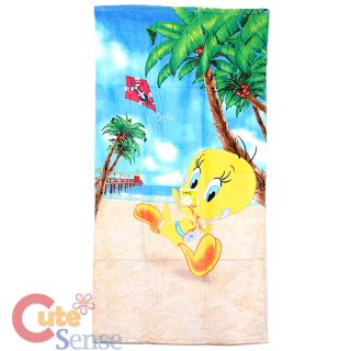 Looney Tunes Tweety Bird Beach Bath Towel Sylvester Kile 100 Cotton