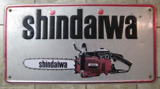 Old Shindaiwa Chainsaws Store Dealer Sign Embossed Power Equipment Advertising