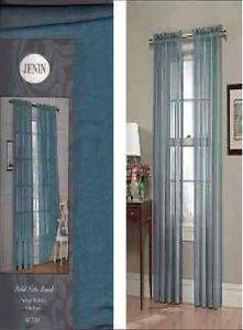 4 Sheer Panels Slate Blue Sheer Window Treatments Curtains Drapes Great Deal