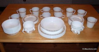 Lot of 63 Corning Ware Corelle Golden Butterfly Dinnerware Set Cup Plate More