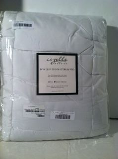 Mattress Cover Pad Top Super Loft Multi Support White Queen Bedding Cozelle