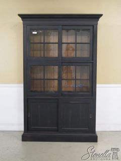 34688 Ethan Allen New Country Bookcase with Sliding Glass Doors