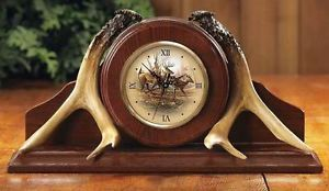 New Terry Redlin Whitetail Deer Buck Antler Shelf or Fireplace Mantel Clock
